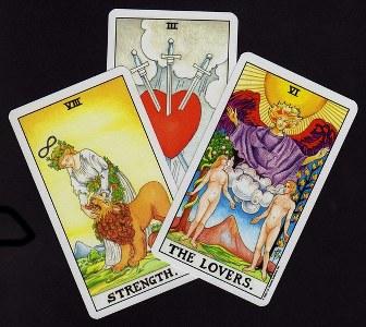 tre carte dell'amore